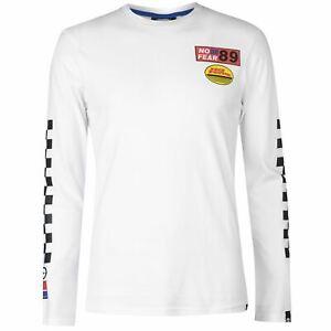 No-Fear-Full-Length-Sleeve-Crew-T-Shirt-Mens-Gents-Tee-Top-Neck-Lightweight