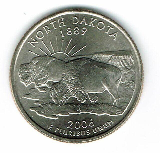 2006 P North Dakota U.S State Quarter Single Coin Uncirculated