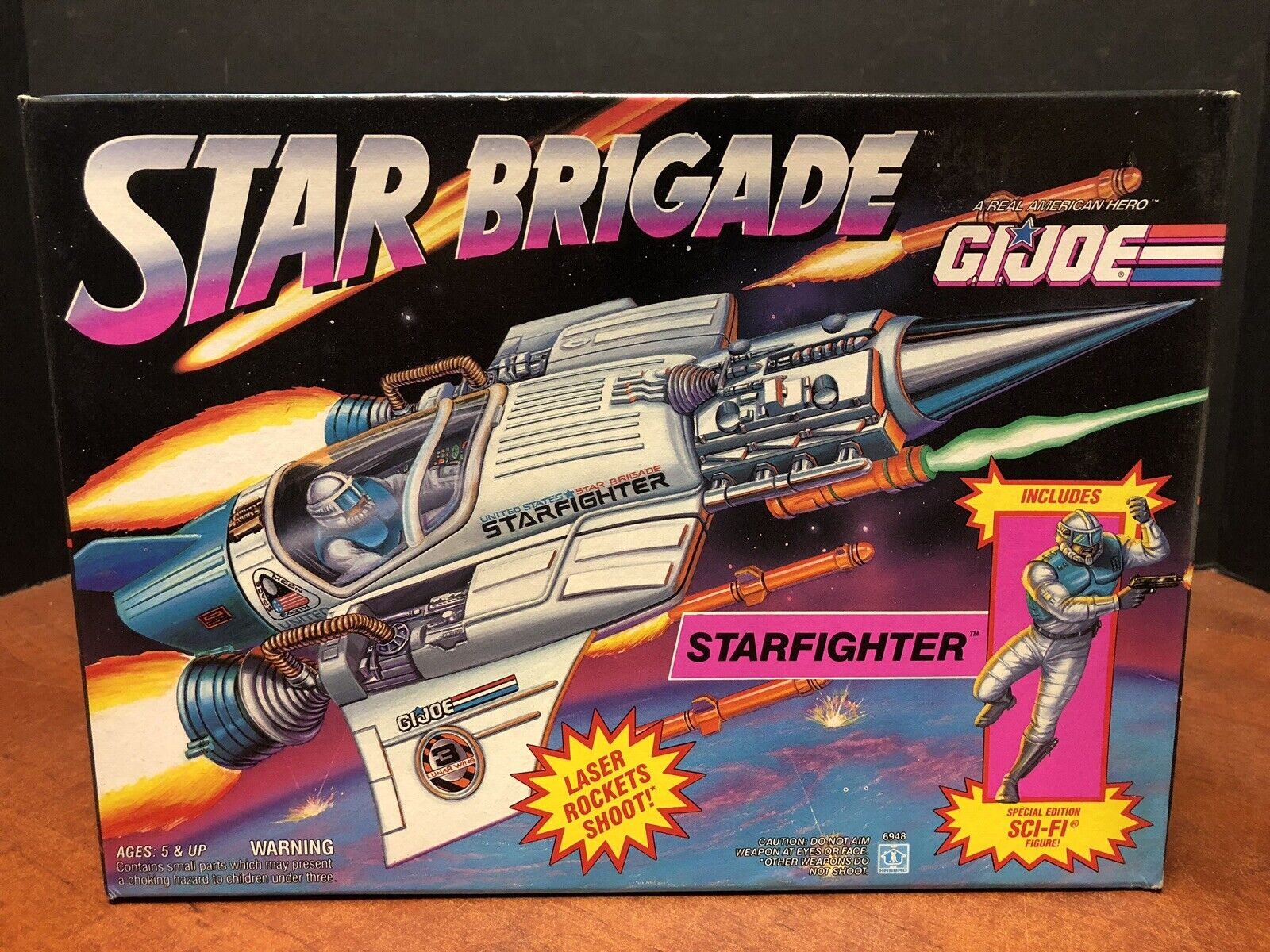 GI Joe 1993 Star Brigade Starfighter Sealed Dela0570