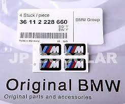 Alloy Wheel M Decal 36112228660 Set of 4 Genuine BMW E90 E82 E46 F30 F20 X3 X5