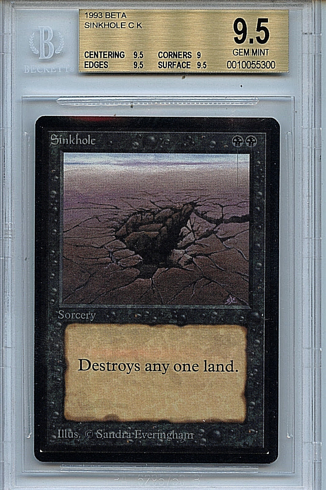 MTG Beta Sink Hole BGS 9.5 Gem Mint Card Magic The Gathering WOTC 5300