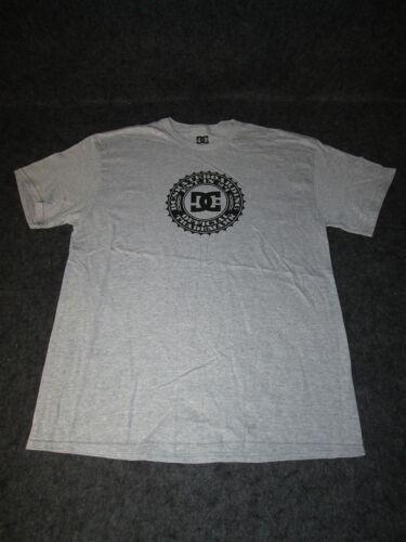 Homme véritable DC la mode décontractée SKATE BMX Tee T-shirt S M L XL XXL Gris Blk DC35