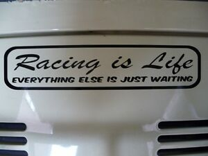 Racing-is-Life-sticker-decal-Steve-McQueen-quote-Drag-Race-Drift-F1-Cycling-F1