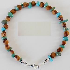 6-American-Indian-Navajo-Ghost-Cedar-Bead-Juniper-Berry-Turquoise-Bracelets