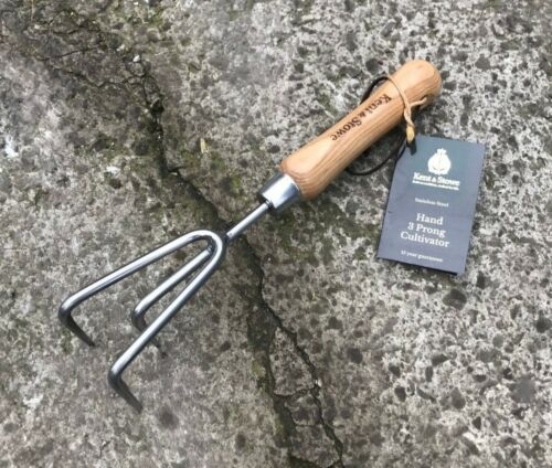 Garden Kent /& Stowe Stainless Steel 3 Prong Claw Cultivator Tool