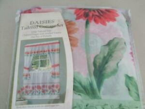 NEW-DAISIES-TAILORED-COTTAGE-CURTAIN-4-PIECE-57-034-X-24-034-SET
