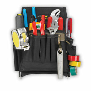 CLC-1505-10-Pocket-Pro-Maintenance-Electrician-039-s-Tool-Belt-Pouch-Bag-Holder