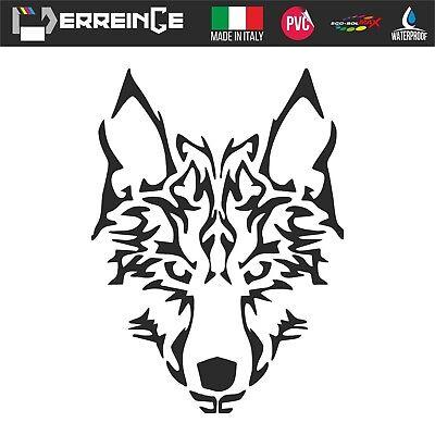 2x autocollant sticker voiture moto loup biker wolf motard no club tuning r2