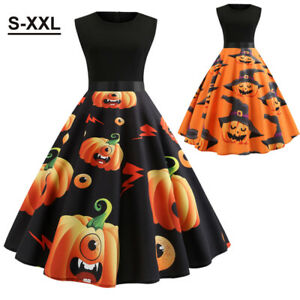 Women S Sleeveless Swing Halloween Dress Costume