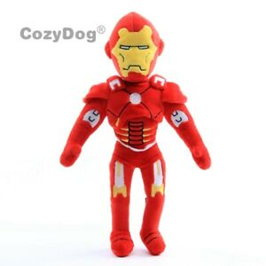 The-Avengers-Iron-Man-Plush-Toy-Soft-Stuffed-Doll-12-039-039-Figure-Kids-Boys-Gift-New