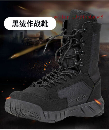 Mens Outdoor Military Tactical Army Combat Boots Hiking Desert Shoes Lace Mesh