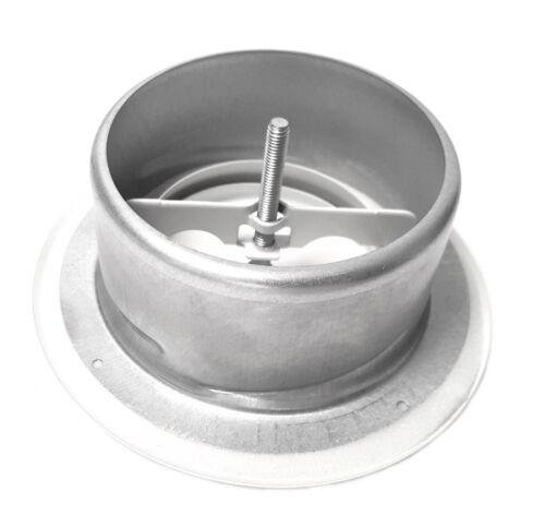 Tellerventil 125 mm Abluft Stahl Pulverbeschichtet