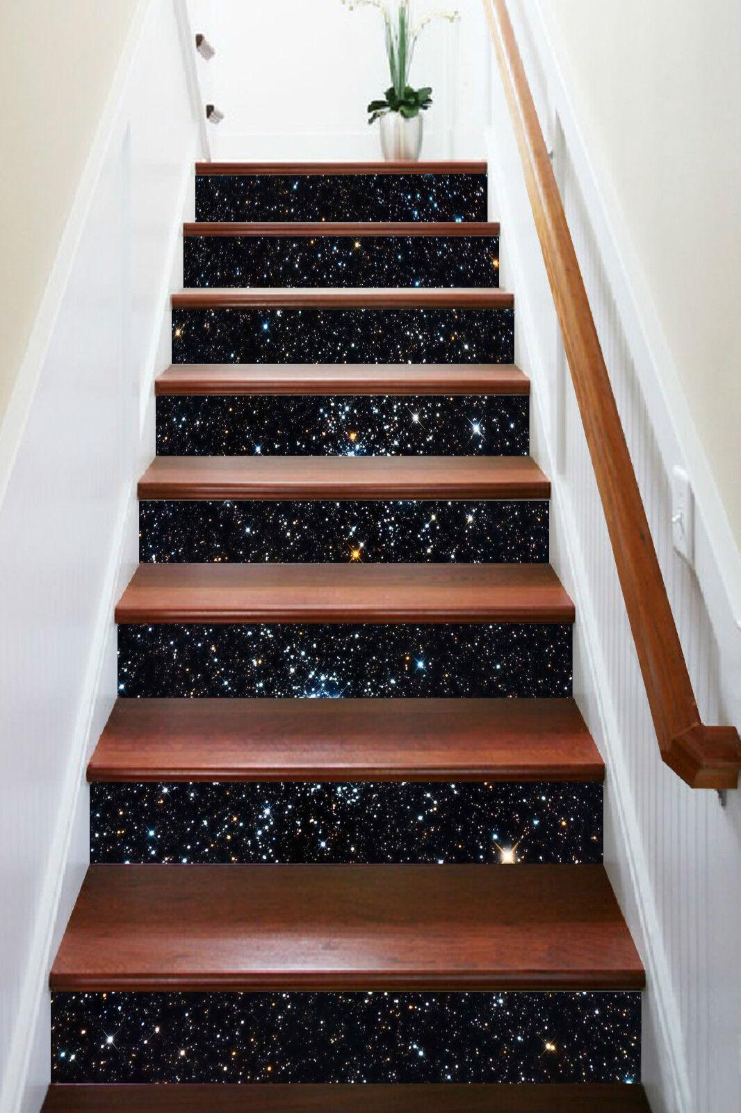 3D Dunkel Stern 794 Stair Risers Dekoration Fototapete Vinyl Aufkleber Tapete DE