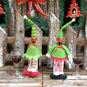 Belle-bande-de-vin-de-couverture-de-bouteille-sacs-pour-Noel-decoration-1-Set