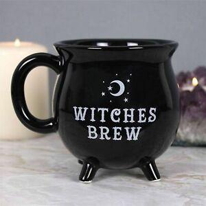 Witches Brew Black Cauldron Mug 10 cms high free-post