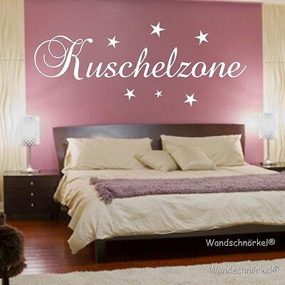 Wandtattoo Wandaufkleber Schlafzimmer Kuschelzone