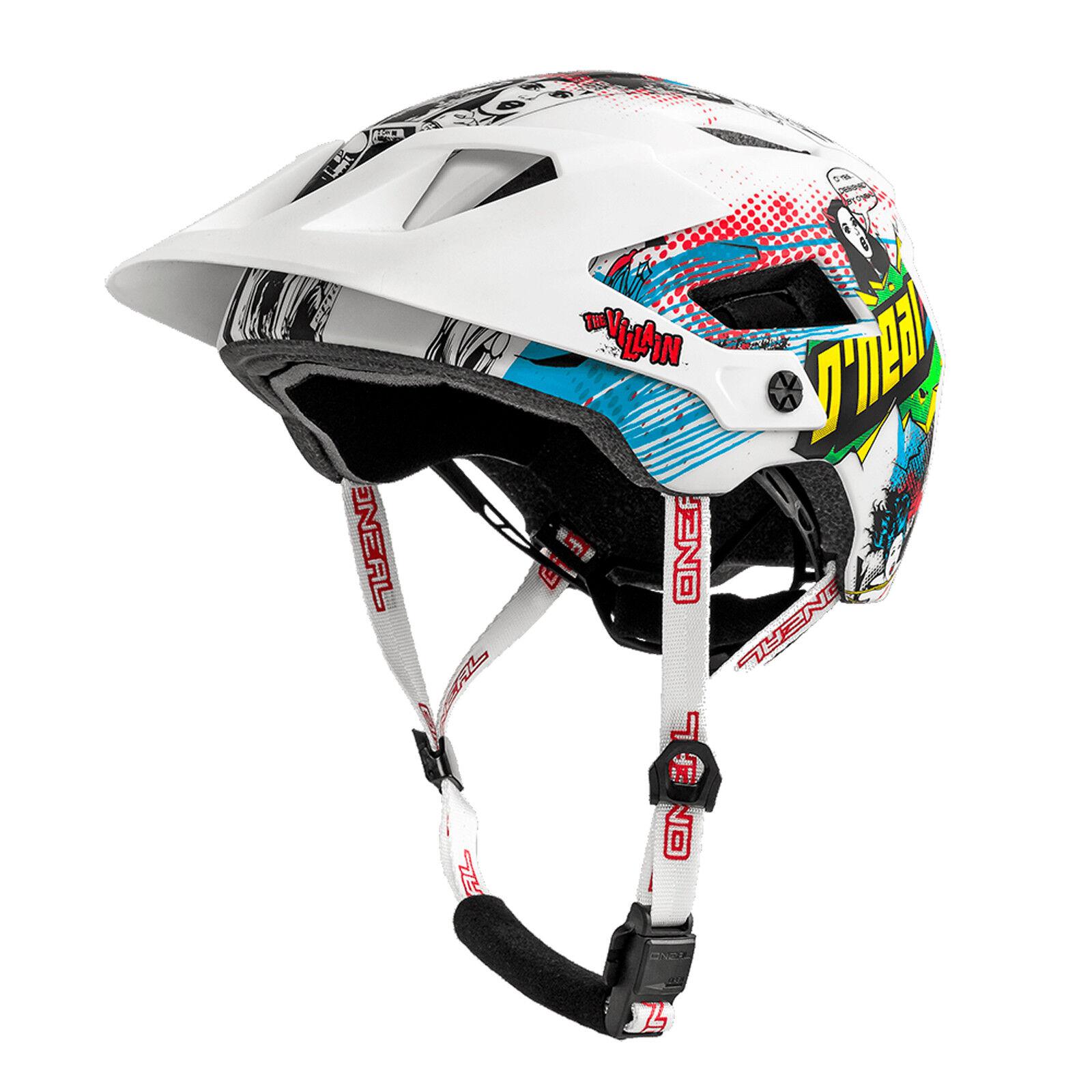 O 'neal defender 2.0 Villain All mountain MTB bicicleta casco blancoo multi 2019 oneal