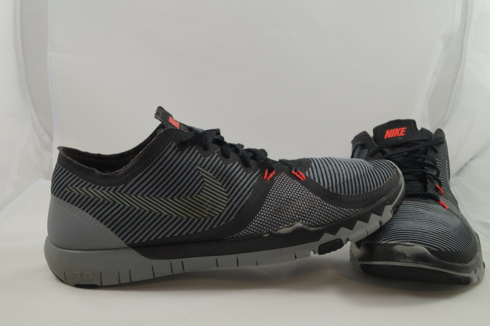 Nike Free 3.0 v4 Trainers UE 45 us 11 UK 10 negro 749361-001 zapatillas deportivas