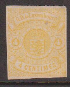 (OI-9) 1869 Luxemburg 4c yellow MNG (H)