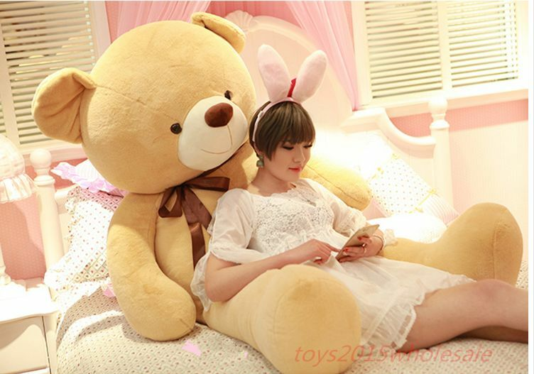 63'' Gaint Huge Big Teddy Bear Suffed Animals Brown Plush Soft Toys Doll Gift US
