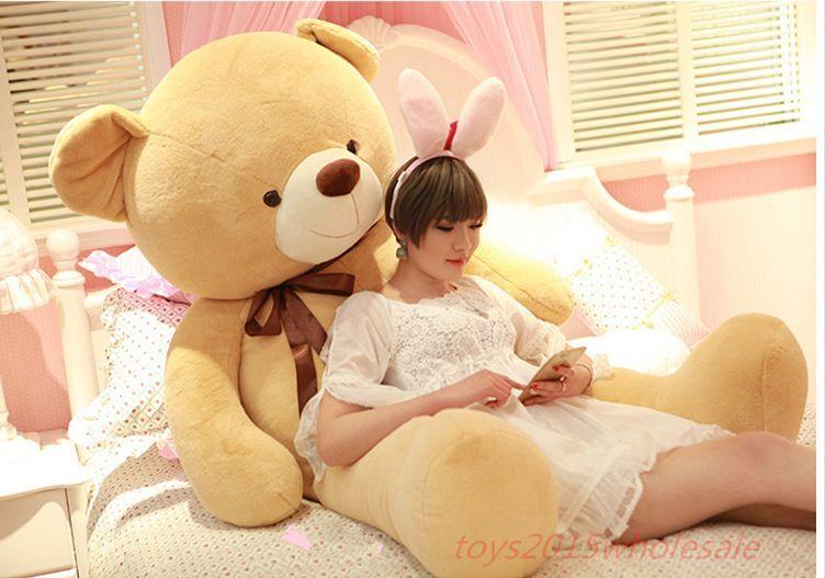 63'' Teddy Bear Plush Toy Xmas Suffed marrone Animals Soft Doll Birthday Kid Gifts