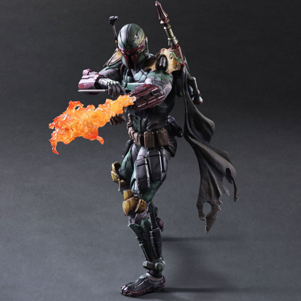 STAR WARS Play Arts Kai  BOBA Fett Suqare Variant ACTION FIGURES STATUE TOY NEW