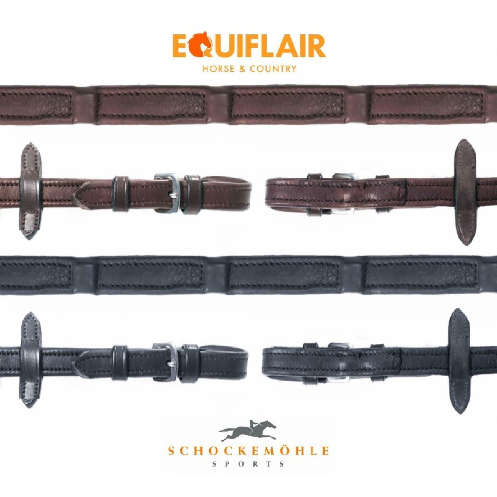 Schockemohle Durasoft Leather Reins - Wide (18mm)