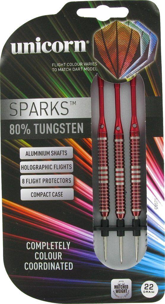 Unicorn Red Sparks Tungsten Darts – 22g