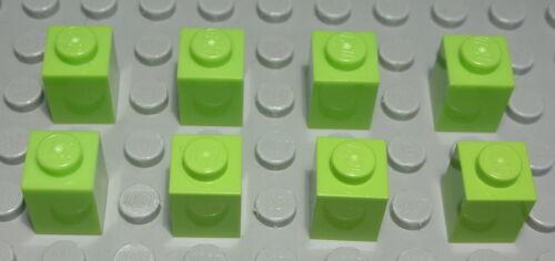 1156 Lego brique 1x1 Lime Vert Clair 8 pièces