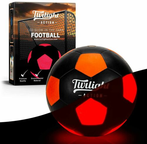 Twilight LED Glow in the Dark Light Up Soccer Ball Size 5 Outdoor Fun Brand New