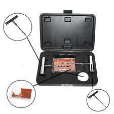 Tire Repair Kit Puncture Flat Emergency Fix Tubeless Plug Set Tool Patch Box