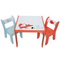 Labebe Wood Table And 2 Chairs Set Furniture Apple Playroom Studyroom Kid Birch