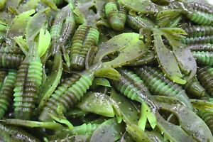 3-034-Green-Pumpkin-Chartreuse-Swirl-Craw-Flapper-Jig-Trailer-Yo-Mama-Bass-Fishing