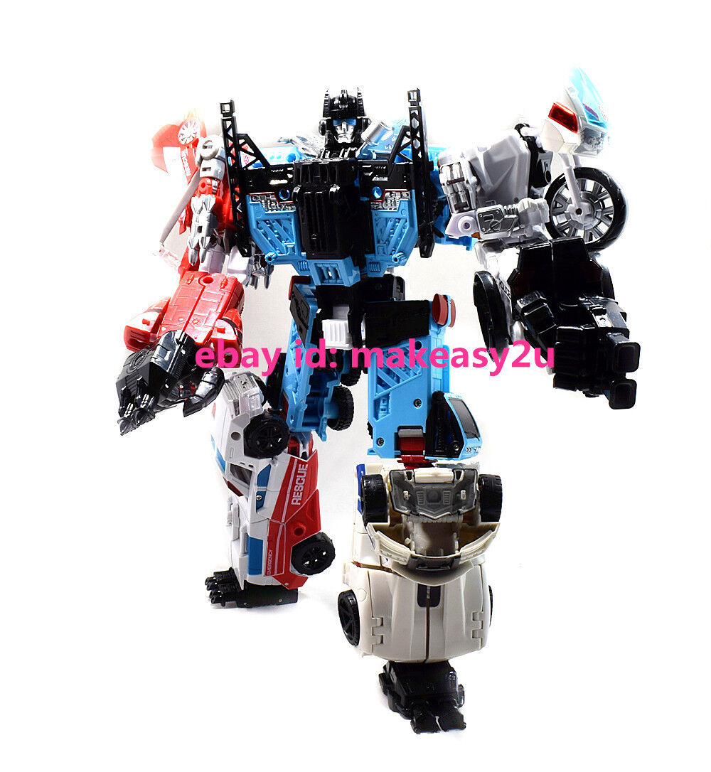 COOL CHANGE Transformers Defensor Blades Hot Spot Combiner Wars Action Figure