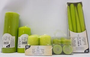 Vert-Citron-Kiwi-lumignons-conique-et-pilier-bougies-qualite-PAPSTAR-Allemagne
