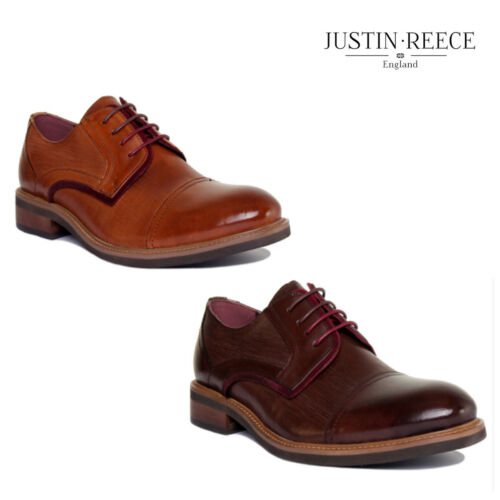 Justin Reece Andy Mens Leather Matt Boots Size UK 6-12
