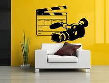 Wall Vinyl Sticker Decal Mural Room Design Video Camera Movie Action Art bo2215