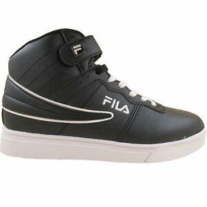 Fila-Men-039-s-Vulc-13-Mid-Plus-MP-Double-Layer-Flag-Black-White-Fashion-Retro-Shoes
