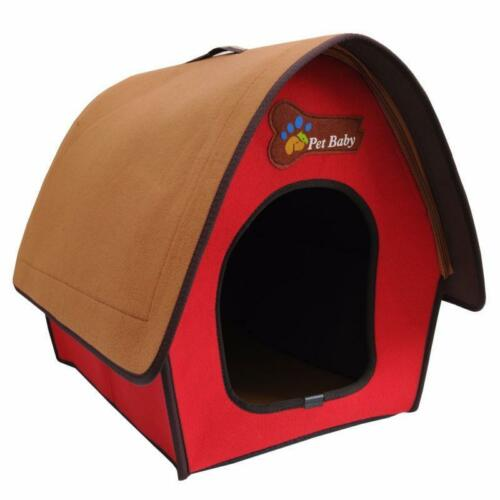Soft Pet Dog Bed House Kennel Mat Pad Warm Washable Puppy Cushion Zipper Locked