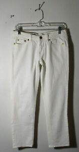 Women-039-s-J-CREW-White-034-Cropped-Matchstick-034-Denim-Jeans-Size-27