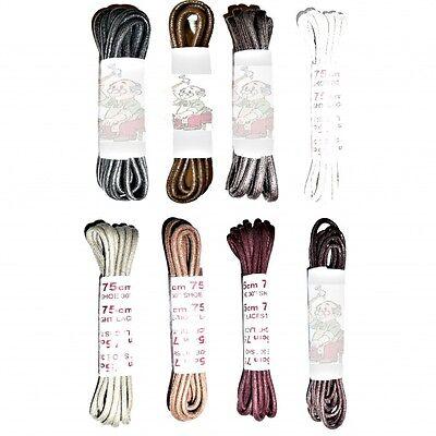 75cm Fino Encerado Zapato Cordones, bota de cordones de elección de colores