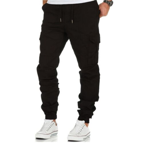 Mens Multi Pockets Cargo Pants Military Army Combat Casual Sports Work Trousers