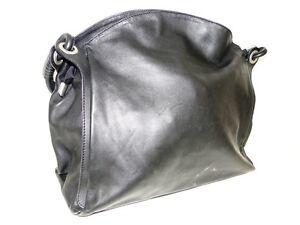Made-in-Italy-Damentasche-Handtasche-Schultertasche-Tasche-Kunstleder-Schwarz