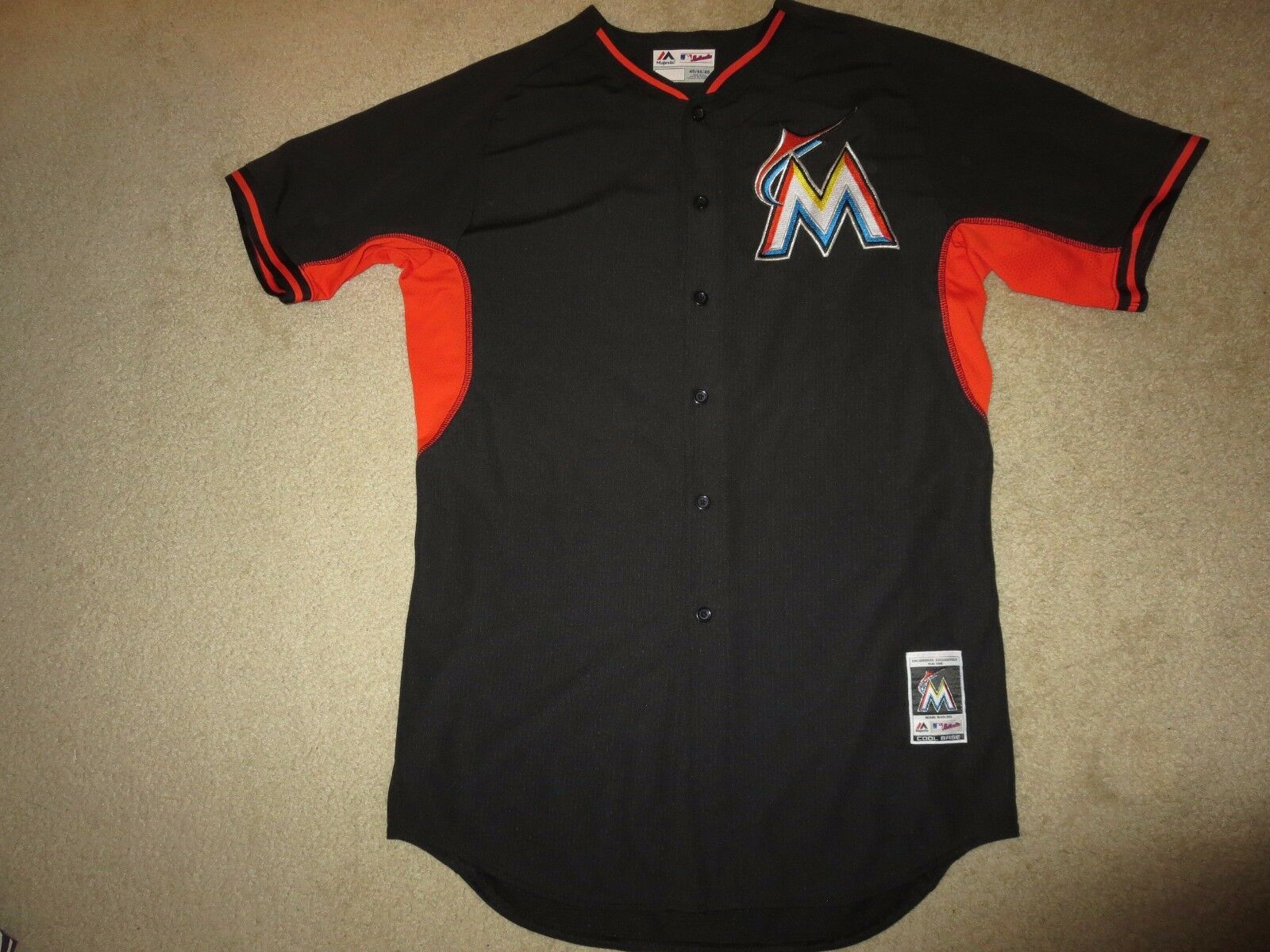 Miami Marlins Trikot  8 MLB Majestätisch Coolbase Trikot Marlins 46 1e4755