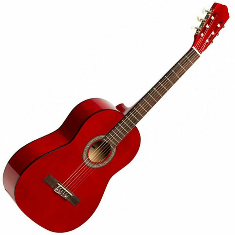 Stagg SCL50 3 4-rot 3 4 Größe Classical Acoustic Guitar - rot