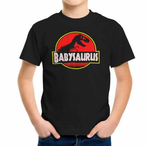 Babysaurus Dinosaur T Rex Skeleton Jurassic Park Logo Kid/'s T-Shirt