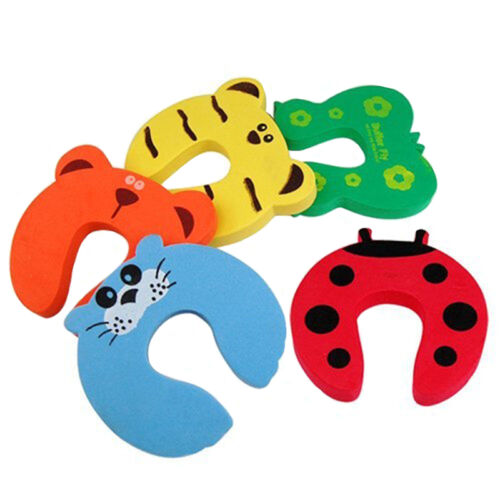 5X Baby Safety Foam Door Jammer Guard Finger Protector Stoppers Animal  New.