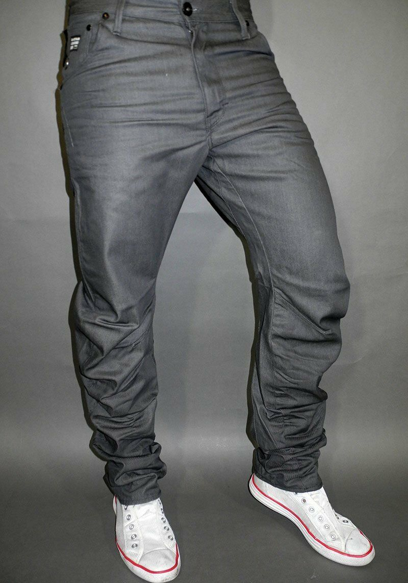 G Star Jeans Arc Loose Tapered Crushed Grey Format Grey Denim W29 L32 Cotton