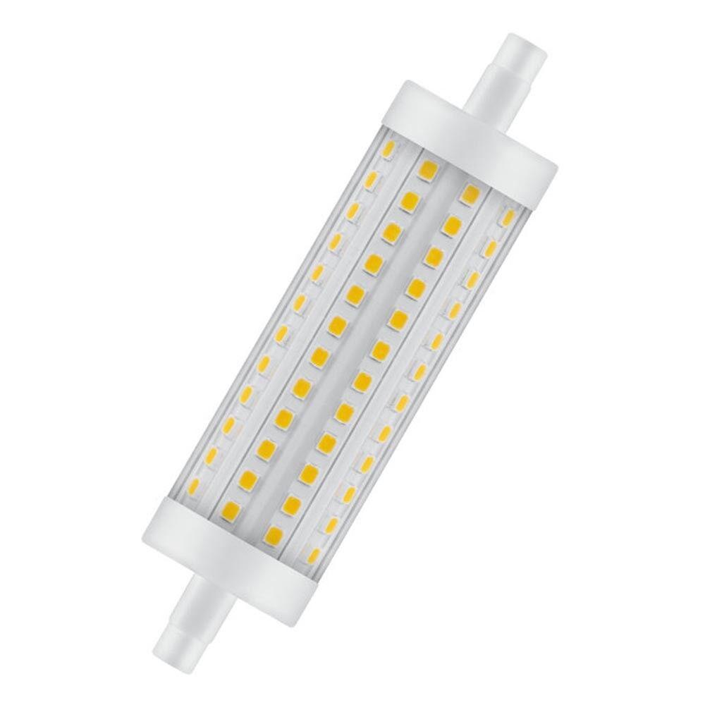 10 x Lampadina LED 15w 118mm R7s 2700k bianco molto caldo dimmerabile (Ledvance)