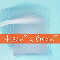 500 Cello Bags, Size A6+ (= 4 15/16 X 6 9/16) Resealable Self Adhesive On Body